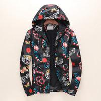 sıcak satıcı siyah toptan satış-Yeni Trend Kişilik Erkek Tasarımcı Ceketler Kaplan Yılan Baskılı Lüks Ceket Çok kod Sıcak Satıcı Moda Youngth Siyah Rüzgarlık