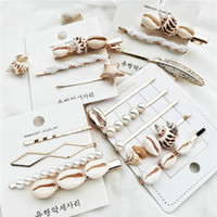 Wholesale sea shells accessories for sale – best Fashion Conch Cowrie Shell Hair Pins Pearl Barrette Hair Clips for Women Girls Sea Shell Accessories for Wedding