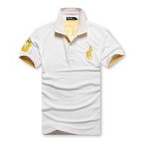 xl erkekleri izlemektedir toptan satış-2019 sayılan PoloShirt erkekler Kısa Kollu T gömlek Marka polo gömlek erkekler Dropship Ucuz En Kaliteli siyah İzle polo takımı Ücretsiz Kargo