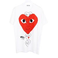 camisas graciosas impresas al por mayor-Womens Mens Designer T Shirts Casual hombres de la marca de verano camisa de manga corta camisetas de moda impresión del corazón divertido Top Tees