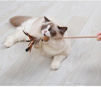 Wholesale cocks toys for sale - Group buy 30cm funny cat toys with catnip cock scratching toys Nature cat want cat dangler feather teaser pet supplies