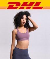 ingrosso biancheria intima del reggiseno delle signore-Donne Sport Bra Crossing Yoga Outfits Camicie Vest Push Up fitness Tops Biancheria intima sexy della signora Tops Shakeproof Strap Bra regolabile
