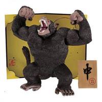 Wholesale monkey puppets resale online - Anime Dragon Ball Z Action Figure Saiyan Son Goku Monkey Orangutans Toys Dolls Mod Juguetes Puppets Figure Toys For Children