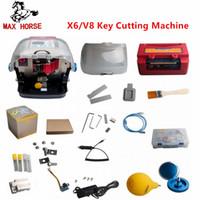 llave automatica x6 al por mayor-Para V8 Para X6 Máquina duplicadora automática de llaves Máquina duplicadora de llaves para automóviles Mejor que Slica Máquina duplicadora de llaves Herramientas de cerrajería