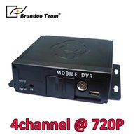 Wholesale max dvr for sale - Group buy 4CH Mobile DVR the max video resolution is x720P car