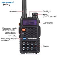 walkie talkie vhf baofeng venda por atacado-2 PCS Baofeng BF-F8 + Portátil Walkie Talkie Dupla Banda Dupla Ham VHF Estação de Rádio UHF Transceptor Boafeng Amador Woki Toki PTT