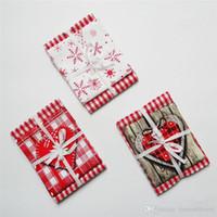 pakete servietten großhandel-Weihnachtsgeschenkverpackungsserie Baumwollgewebedruckserviettenmattenausgangsdekor-Tischdekoration Wohnzimmerdekoration