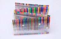 Wholesale fluorescent writing pen resale online - 100 Party Fluorescent Gel Pen Refills Multi color Watercolor Brush Pen Refills For Colorful Paintings Gift