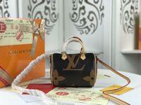ingrosso borsa della moneta del portafoglio hobo-SPEEDY shoulder M61252 Mini borsa a mano tracolla in pelle tracolla 16cm Female NANO secchio borsa a mano mini marrone CLUCH BAG