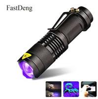 lampe de poche aaa mini cree achat en gros de-Lampe de poche ultraviolette avec lampe de poche UV avec fonction de zoom Détecteur de taches d'urine pour détecteur de taches d'urine dans le noir ultra-UV chasse au scorpion