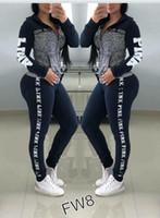 ingrosso pantaloni yoga per ragazze-Tuta Sportiva da Donna Rosa Taglie forti abbigliamento sportivo Felpe con cappuccio da donna Pantaloni lunghi Pantaloni 2 pezzi Completi da uomo Primavera Abbigliamento casual