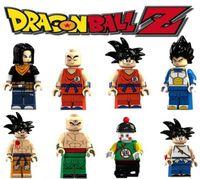 Wholesale kid gohan figure for sale - Group buy Mini Dragon Ball Figures blocks Goku Krillin Gohan Android Vegeta Tien Shinhan super hero building blocks kids toy gifts