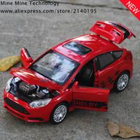 ford elektronik großhandel-Zxz 1:32 Freies Verschiffen Ford Focus Alloy Diecast Modell Ziehen Spielzeugautos Modell Elektronische Kinder Auto Spielzeug Für Kinder J190525