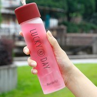 Discount easy carry water bottle Tumbler Mug Water Bottles Adult Outdoors Sport Fitness Color Glass Space Cup Easy To Carry Anticorrosive Kid Child Children School Cups New