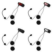 kask walkie talkies kulaklıklar toptan satış-Motosiklet Kaskı Intercom M6 Bluetooth Kulaklık Su geçirmez İnterphone Kulaklık Walkie Talkie 4 Renkler
