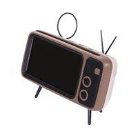 ingrosso mini altoparlanti per tv-Altoparlante Bluetooth PTH800 Portatile Retro TV senza fili Mini Bluetooth Altoparlanti Super Bass Supporto per telefono Supporto TF Card U Disk