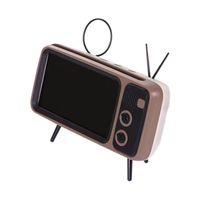 mini-lautsprecher für tv großhandel-PTH800 Bluetooth Lautsprecher Tragbare Drahtlose Retro TV Mini Bluetooth Super Bass Lautsprecher Telefonhalter Unterstützung TF Karte U Disk