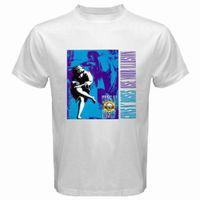 ingrosso rose in pelle-GUNS N 'ROSES Rock Band Legend T-shirt bianca da uomo Tees Custom maglia con cappuccio t-shirt hip hop maglietta croatia in pelle