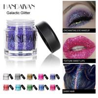 conjunto de pigmento glitter venda por atacado-HANDAIYAN Pigment Eyeshadow Maquiagem Pigmento Solto Única Sombra Pigmento Em Pó Glitter Mineral Lantejoula Sombra Maquiagem Cosméticos Set