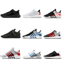 sapatilhas de zebra venda por atacado-2019 EQT Support 93 17 Stripe Zebra Womens Men Tênis de corrida Preto Branco Rosa Mans Casual Sneakers Mulheres Formadores Turbo Sports Sneakers