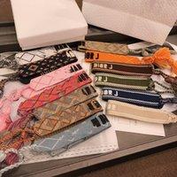 schnüren sich armband großhandel-Neue Baumwolle gewebt Brief Stickerei Quaste Armreif Lace-up Armband einstellbar Festival Armbänder Marke Designer Schmuck