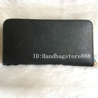 Wholesale card holder online - AAA woman ladies MICHAEL KALLY high quality famous brand long single zipper Genuine Leather wallet Cross pattern purse with box card