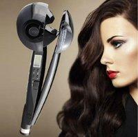 ingrosso ferro da stiro curling-Hair Curler Upgraded Bacchette per arricciature professionali Curl Secret Hair Styler Miglior ferro arricciacapelli a vapore | Auto rotante Bigodino elettrico