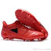 ingrosso scarpe outdoor messi-Red Black Messi Tacchetti da calcio ACE X 17.1 Outdoor Soft Spike Scarpe da calcio Uomo Best Quality Originale ACE scarpe da calcio