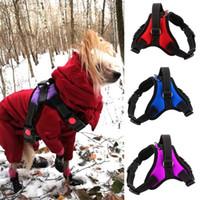 Wholesale led dog collar xl for sale - Group buy XS XL K9 Adjustable Reflective Nylon Pet Dog Harness Vest Harnesses Dog Lead for Husky Alaska Teddy for Walking Pet Collar