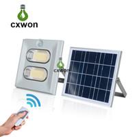 Wholesale waterproof portable floodlights resale online - Solar Powered Outdoor Lighting IP67 Waterproof W W W LED Floodlight lm w Solar Light Garden