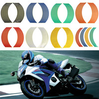 Wholesale auto stickers bikes resale online - 18 quot Motorcycle Decor Tire Rim Wheel Sticker Reflective Bike Car Styling Motorbike Auto Decals Universals