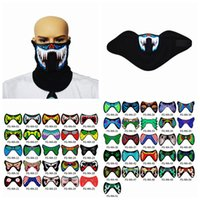 Wholesale glowing helmet resale online - Led Music Masks With Sound Activated Terror Masks Cold Light Helmet Fire Festival Party Glowing Dancing Riding Party Masks ZZA1141