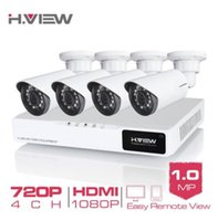 Wholesale camera systems for home resale online - H VIEW CH P Video Surveillance Kit Camera Video Surveillance Outdoor CCTV Camera Security System Kit CCTV System for Home
