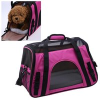 ingrosso portante morbido-Pet Carrier Soft Sided Small Cat Dog Comfort Red Travel Approvato