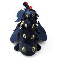 Wholesale dragon animals online - 4 Sizes How to Train Your Dragon Plush Toy Movie Toothless Light Fury Black Dragon Stuffed Animals Kids Gifts Novelty Items CCA11372