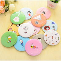 Wholesale small beauty mirror resale online - 1Pcs Small Cute Cartoon Pocket Mirror Hand Makeup Compact Mirrors Portable Professional Mini Cosmetics Mini Beauty Make Up Tools