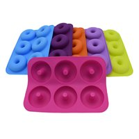 6-Cavity Silicone Donut Baking Pan Non-Stick Mold kitchen cake shop bakeware Tools Baking Nonstick and Heat Resistant Reusable