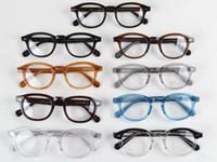 kadınlar için berrak lens gözlüğü toptan satış-LEMTOSH gözlük çerçeve temizle lens johnny depp gözlük miyopi gözlük Retro óculos de grau erkekler ve kadınlar miyopi gözlük çerçeveleri