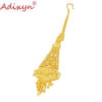 accessoires cheveux africains achat en gros de-vente en gros bijoux de chaîne de cheveux d'or éthiopien femmes or 24k couleur africaine / érythrée / kenya accessoires parti parti N10073