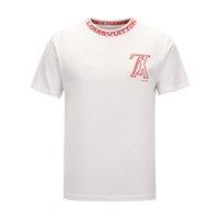 erkekler için siyah kıyafetler toptan satış-Erkekler Için moda Tees Pamuk Mens kapalı Giyim T-shirt Yuvarlak Yaka milyarder Adam Üstleri Yaz Kısa Kollu siyah Beyaz mektubu gömlek tee