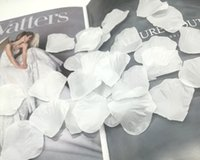 ingrosso petali di fiori artificiali bianchi-1000pcs bianco seta artificiale petali di fiori di rosa favore di nozze accessori per eventi decorazione