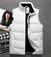 gilet d'hiver de style homme achat en gros de-2019 nouvelle marque double nord de haute qualité Down Down Vest Down Down Jacket manteau de visage manteau épais sportswear hiver Vest pour hommes 1803