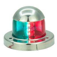 ingrosso navigazione leggera-Luci di navigazione a LED con luci a LED colorate per barche a vela da 12 V, in acciaio inox