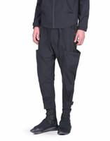 современная одежда плюс размер оптовых-27-44 2019 New Men's clothing modern Hair Stylist fashion side pocket harem pants Overalls plus size singer costumes