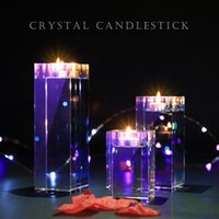 Wholesale crystals shops for sale - Group buy Multisize Home Decorations Candlestick Wedding Idea K9 Crystal Scented Candle Holders Table Centerpieces Bar Coffee Shop Decor Votive Holder