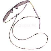 mor bantlar toptan satış-Boncuk Gözlükler Kordon Güneş Gözlükleri Gözlükler Zincir Tutucu İpi Mor