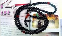 Wholesale buddhist jade online - wholesaleWholesales Tibetan Buddhist mm Black Beads Buddhism Buddha Prayer Mala Necklace
