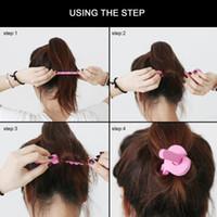 Wholesale bendy foam rollers hair curlers for sale - Group buy 6pcs Sponge Foam Hair Magic Soft Bendy Curler Roller Strip Heatless Tool Pink hot Selling