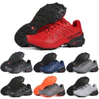 Wholesale lowest running shoes sale for sale - Group buy Hot sale Salomon Speedcross CS Men Running Shoes red white blue grey mens trainers Athletic Sneakers