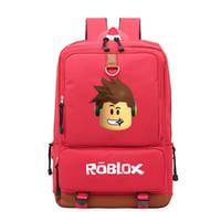 Wholesale kid laptops resale online - 2019 Roblox game casual backpack for teenagers Kids Boys Children Student School Bags travel Shoulder Bag Unisex Laptop Bags